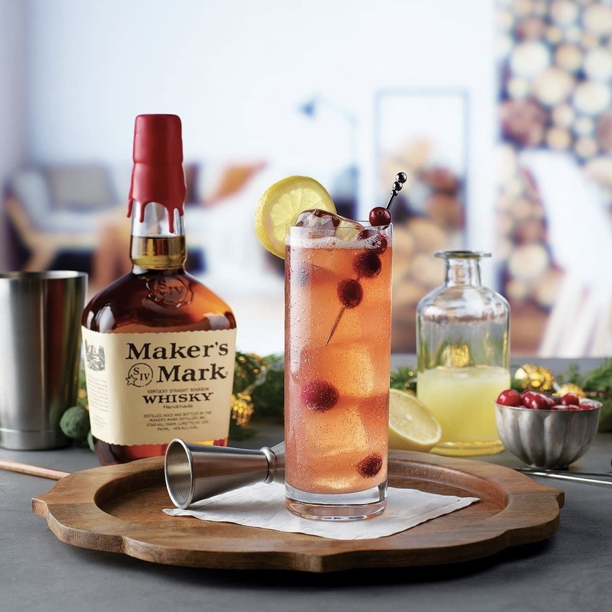 Celebrate The Holidays with this Merry Berry Buck Cocktail